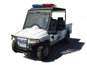 CitEcar Electro Bubble Buddy LSV 4 Passenger Mountaineer Police